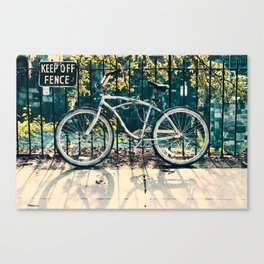 Keep off fence Canvas Print