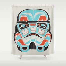 skull warrior alliance is rebellion shower curtain