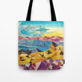 abstract geometric mountain range Tote Bag