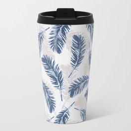 My blue feathers Travel Mug