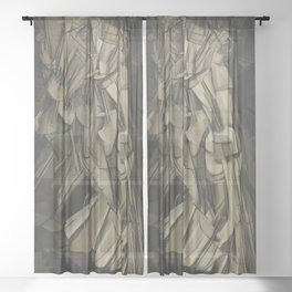 Marcel Duchamp's Nude Descending a Staircase, No. 2 Sheer Curtain