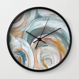 Abstract chic - cirlces and dots Wall Clock