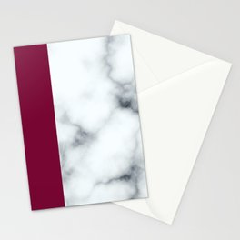 Berry Marble Stationery Cards