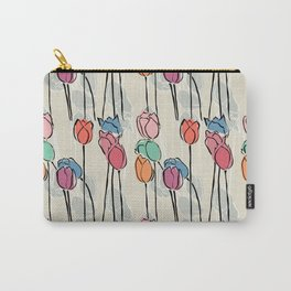 Field of Pastel Tulips Carry-All Pouch
