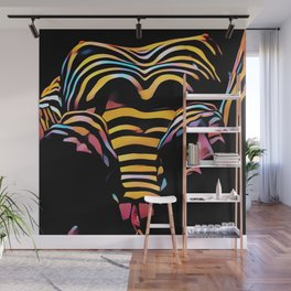1276s-MAK Intimate Nude Abstraction Striped Torso With Hands On Thighs Wall Mural