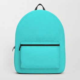 Solid Celeste Bright Aqua Blue Color Backpack