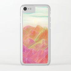 Lines in the mountains XVIII Clear iPhone Case