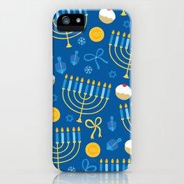 Hanukkah Menorah Pattern iPhone Case