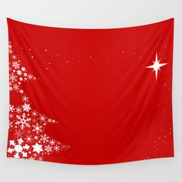 Red Red Christmas Wall Tapestry