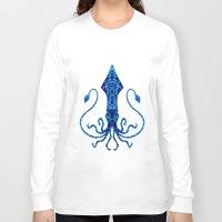 squid Long Sleeve T-shirts featuring Squid by Bahadır Tez