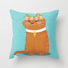 My Fair Kitty Throw Pillow