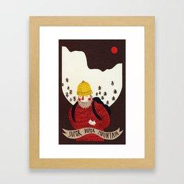 Super duper mountain Framed Art Print
