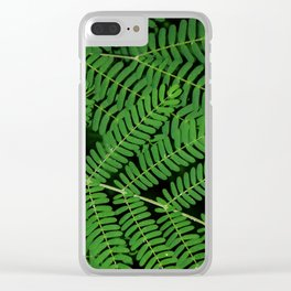 Green Ferns Clear iPhone Case