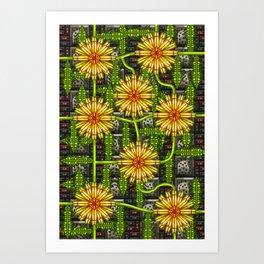 Dandelion Garden Art Print