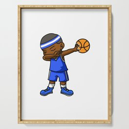 Kids Basketball Boy Dabbing Dab Gift Idea Serving Tray