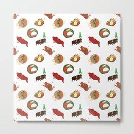Balinese Food Pattern Metal Print