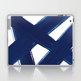 Indigo Abstract Brush Strokes | No. 3 Laptop & iPad Skin