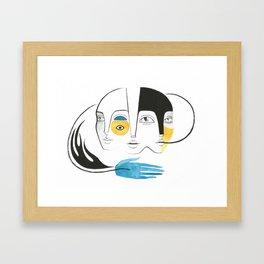 Palavras Framed Art Print