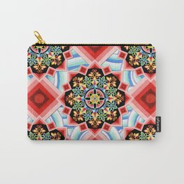Chinoiserie Waves Carry-All Pouch