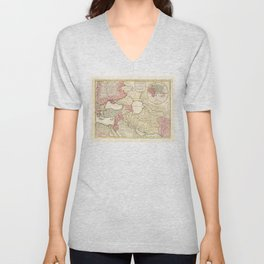 Map of the Middle East (1725) Unisex V-Neck