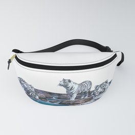 White Tigers Relaxing Fanny Pack