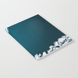 Minimalist Ice Bergs in the blue Ocean - Aerial Photography Notebook