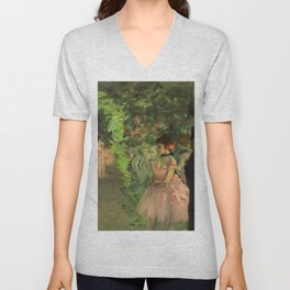 "Edgar Degas ""Dancers Backstage"" Unisex V-Neck"