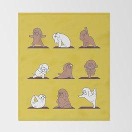 Poodle Yoga Throw Blanket