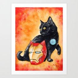 Iron Cat Art Print