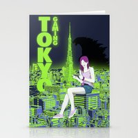 gaming Stationery Cards featuring Tokyo Gaming by monocefalus