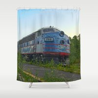 minnesota Shower Curtains featuring Minnesota Zephyr by John Andrews Design