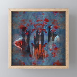 Abstract three women Framed Mini Art Print
