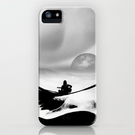 Black Space Song iPhone Case