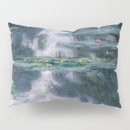 monet water lilies colorful Pillow Sham
