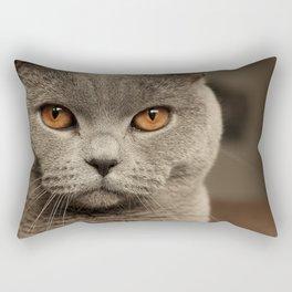 Diesel, the cat - (close up)  Rectangular Pillow