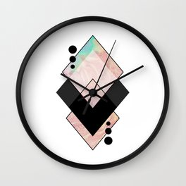 Geometric Composition 11 Wall Clock