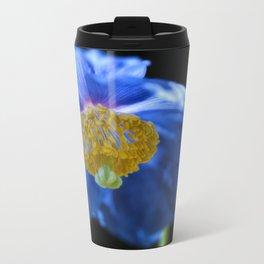 Blue Himalayan Poppy Flower Metal Travel Mug