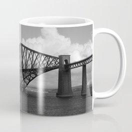 Forth Bridge Scotland Black & White Coffee Mug