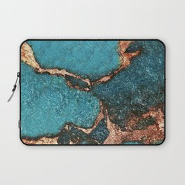 GEMSTONE  & GOLD AQUA Laptop Sleeve