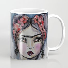 Frida with little bird Coffee Mug