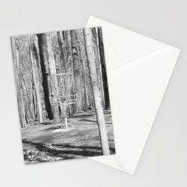 Black And White Disc Golf Basket Stationery Cards