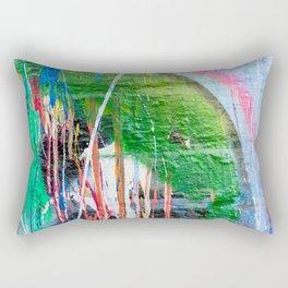 Dripping paint graffiti wall Rectangular Pillow