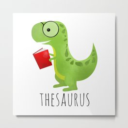 Thesaurus Metal Print