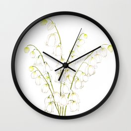 white lily of valley 2021 Wall Clock