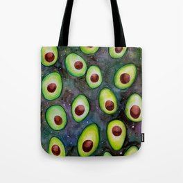 Avocados in Space Tote Bag