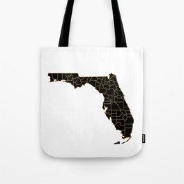 Florida map, USA Tote Bag