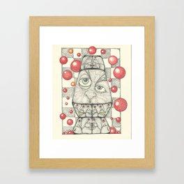 Electric Kool Aid Lava Man 2.0 Framed Art Print
