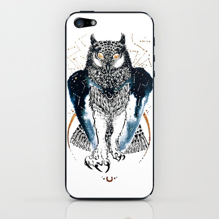Cosmic Ink Owl iPhone Skin