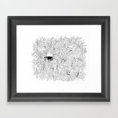 Where are the stagnant waters Framed Art Print