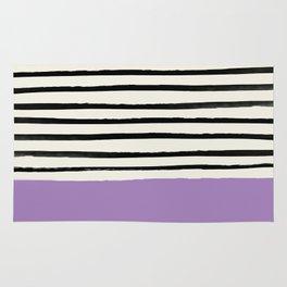 Lavender x Stripes Rug